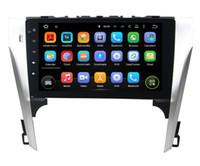 tela sensível ao toque do camry venda por atacado-Quad Core 1024 * 600 vScreen Android 5.1 DVD Player Do Carro de Navegação GPS para Toyota Camry 2012 Controle de volante de rádio sem plataforma Bluetooth