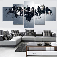 Wholesale Pictures New Movies - 2017 New Unframed HD Printed Harley Quinn Joker Batman Painting On Canvas Room Decoration Print Poster Canvas Movie Poster