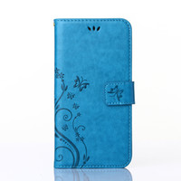 Wholesale S4 Butterfly Wallet - Butterfly Leather Stand Flip Wallet Cover Case For Samsung Galaxy S3 S4 S5 mini Neo S6 S7 edge For iphone