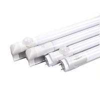 sensor led tubo t8 al por mayor-4FT LED T8 Tubo 1.2 m Radar infrarrojo Microondas PIR Sensor de movimiento G13 Bombillas LED integradas 18W Almacén Estacionamiento lámparas de tubos