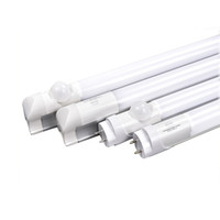 Wholesale T8 Pir Motion - 4FT LED T8 Tube 1.2m Infrared Radar Microwave PIR Motion Sensor G13 Integrated LED Light bulbs 18W Warehouse Parking lot tubes lamps