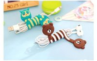 Wholesale Electric Winder - Cute Cartoon Earphone Wire Cord Cable Winder Organizer Holder for iPhone 5 Tablet MP3 MP4 PC Electric Cable winding thread tool
