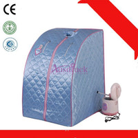 Wholesale 4 colors New Portable Folding Home Sauna Steam Spa Weight Loss Body Sauna Slimming Detox massage Machine Sauna Box with Pain Relief