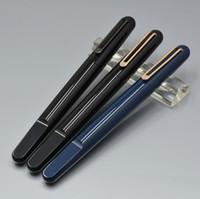 ingrosso penna a sfera di modo-lusso mb nero / blu / bianco resina Roller Ball Pen scuola ufficio di cancelleria moda 0.7mm tappo di chiusura magnetico Scrivi penna a sfera regalo