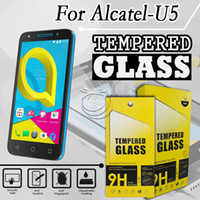 Wholesale Alcatel Mobiles Phones - Tempered Glass Screen Protector For Alcatel U5 HTC Ocean LG G6 MotoZ2 Play Mobile Phone Accessories with packing 10 in 1