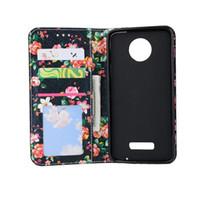 Wholesale Diamond Xperia - Genuine PU Leather Case for Sony Xperia Z3 Z4 Z5 Mini Compact E5 C6 Phone Case,Flower Diamond Wallet Cover for Motorola Moto G4 X4 Play Plus