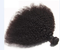 Wholesale indian remy afro kinky hair weave resale online - Indian Virgin Human Hair Afro Kinky Curly Unprocessed Remy Hair Weaves Double Wefts g Bundle bundle Can be Dyed Bleached Fedex