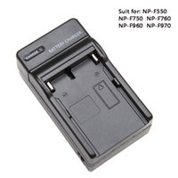 Wholesale np battery charger - Wholesale- Battery Charger For NP-F550 NP-F750 NP-F960 NP-F970