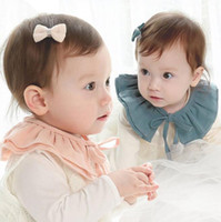 Wholesale False Baby - Baby Fake False Collar Baby Lace Up Cotton Detachable Tie Choker Toddler Baby Girl Kid Fake False Collar
