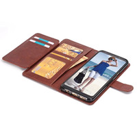 Wholesale Active Apple - For Samsung Galaxy S8 Active Iphone X 8 7 PLUS Multifunction Wallet Leather Pouch Case Crazy Horse Strap TPU ID Cards Stand Skin Cover 50PCS