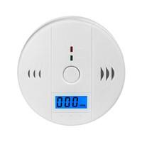 carbon monoxide alarm al por mayor-Alta calidad de seguridad en el hogar CO monóxido de carbono envenenamiento detector de alarma de alarma de sensor de humo de gas de cocina