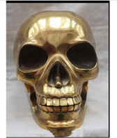 ingrosso artigianato d'ottone-Decorazione Rame Ottone Artigianato Teschio umano Scheletro Testa umana Statua Scultura Scultura Fabbrica all'ingrosso Arti