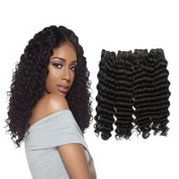 Wholesale Virgin Mongolian Deep Curl - brazilian deep curly virgin brazilian wavy hair bundles 3 or 4 pcs cheap brazilian deep curly human hair wave Deep Wave Curl