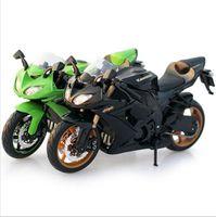 Wholesale Toy Motorcycle Boy - 1:12 Quality Children Mini Motorcycle Kawasaki Ninja 250 Die cast model motor bike Alloy metal models race car toys for boys