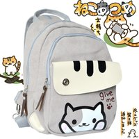 Scuola regalo Zaino Cosplay Malidaike Anime Neko Atsume Cat cortile multifunzionale Sling Bag spalla For Fans