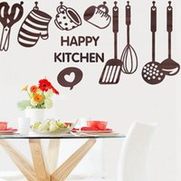 Wholesale Kitchen Paster - Hot Sale Kitchen Cooking Utensil Spatula Vinyl Removable Wall Decal Decor Paster