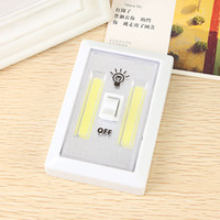 Wholesale Wireless Magnetic Switches - Magnetic LED Night Mini COB Light Ultra Bright Wireless Wall Light With Switch Magic Tape for Camping Lamp Indoor