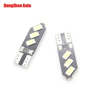 Wholesale lead auto lights - w5w led white White bulb K yellow red led car auto lead T10 Wedge SMD LED Reverse Light License plate light Door lamp Marker