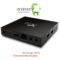 Wholesale Android Root - X96 TV box Rooted Android 6.0 S905X Amlogic Quad Core H.265 set top box WiFi Bluetooth HDMI Streaming Media Player