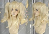 Perruque Blonde Légère Queue De Cheval Pas Cher-Alois Fashion Short Light Blonde Fashion Cosplay Party Wig + 2 Clip Ponytail