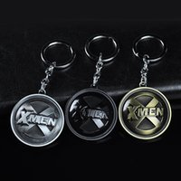 Wholesale anime rings jewelry resale online - Brand New X Men Keychain For Men Trinket Llavero Porte Clef Anime Key Chain Ring Key Holder Car Keyring Chaveiro Male Jewelry Gift Souvenirs