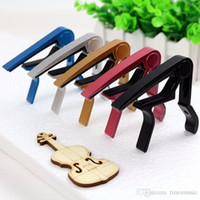 Wholesale Guitar Capo Silver - New Silver Quick Change Clamp Key Acoustic Classic Guitar Capo For Tone Adjusting for Electric Acoustic Guitar Ukulele capo