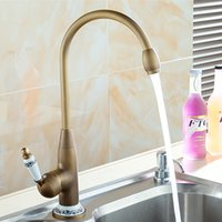 Wholesale Kitchen Sink Brush - 2017 New Arrival Kitchen Sink Faucets European Style Rotatable Lavatory Faucetvertical Water Filter Purifier Faucet Brushed Brass sink fauce