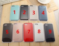 Wholesale Bag High Qulity - High Qulity Solid Silicone Case For iPhone7   7 plus   6s   6s plus logo 17 Color Optional with Retail Bag Free Shipping