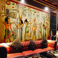 murais de parede de fundo venda por atacado-Atacado-murais-3d papéis de parede decoração da casa Foto fundo papel de parede Antiga civilização egípcia Mayan anciãos hotel grande parede mural de arte