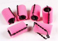 Wholesale Large Hair Curlers Rollers - 6 8 Pcs Set Large&Small Size Hairstyle Foam Curler Roller Stick Set Spiral Curls Tool DIY Bendy Hair Styling Sponge Kit