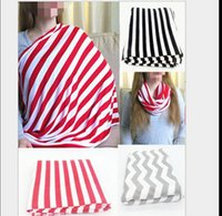 Wholesale Baby Feeds - multi-Use Baby Nursing Breastfeeding Cover Scarf Blanket Stripe Scarf Nursing Cover Baby Feeding Nursing Breast Feeding Blankets KKA2374