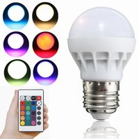 Wholesale E27 B22 RGB LED Bulbs W LED Corn Bulbs Lights with Remote Control Months Warranty