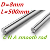 Wholesale X Axis Linear - Wholesale- HOT OD 8mm x 500mm Cylinder Liner Rail Linear Shaft Optical Axis chrome For 3D Printer Accessory