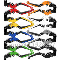 Wholesale Motorcycle Abs Brake - 8 Colors Motorcycle CNC Folding Extending Lever For Yamaha FZ6 600 S2 FZ6R FZ1 FAZER GT XJ6 DIVERSION XSR 900 700 ABS Brake Clutch Levers