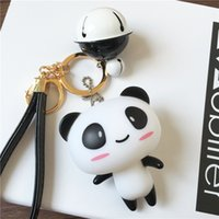 Wholesale Car Key Off - Fashion accessories keychains cute cat 2017 hot sales 10% off great cartoon character panda black pink blue