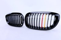 Wholesale 2x Kidney Grill Front Grille Lattice For BMW E46 Ci Ci Door Gloss Black Germany Color P50