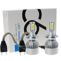 Wholesale H7 Lights - Shipping by DHL H7 H11 H1 H3 H4 9006 90012 Car LED Headlight Bulb 7600LM 6000k 72W Automobiles LED Headlamp ALL-IN-ONE Car Styling