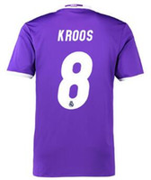 Wholesale Cheap Sport Jerseys Wholesale - 2016 new mens 8 KROOS Customized Soccer Jersey Wear Shirts,Cheap Thai Quality Soccer Shirts ,Fashion Sports 12 MARCELO 11 BALE Football WEAR