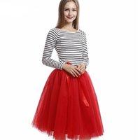 Wholesale Dinner Dance - red woman skirt wedding bride bridesmaid skirt custom leisure formal occasion worker dancing dinner party skirt