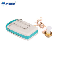 Wholesale Mini Hearing Amplifiers - Mini Audiphone pocket Hearing aids Deaf-aid Acousticon Sound Amplifier Ear Care with Battery S-93 Free Shipping