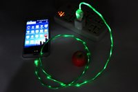 Wholesale Glowing Iphone Cable - Flowing LED Glow Micro USB Charging Data Sync Cable For Samsung Huawei Xiaomi HTC Lenovo Sony LG Android Mobile Phones USB Charger