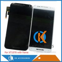 Wholesale Styles For Capacitive - High Quality For Moto X XT1053 X2 XT1097 X3 XT1561 X3 Style With Frame X2 X3 X3 Style without frame CD Display + Touch Screen Assembly