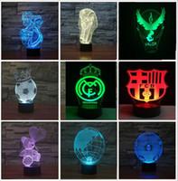 Wholesale Best Nightlight - Fashion Novelty 3D Super Football Globe Lovely Bear with Heart Trophy 3D light colorful gradient LED Child Kids Baby nightlight Best Lamp
