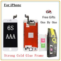 Wholesale Lit Digitizer - Original Back light Original IC Cold Gule Frame For iPhone 6S (4.7'') LCD Display Touch Screen Digitizer With Good 3D Touch &Toughened glass