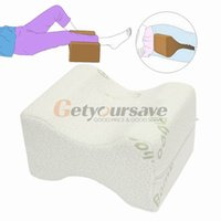 Wholesale Wholesale Cushions Silk - Wholesale- Memory Foam Knee Leg Pillow Bed Cushion Wedge Pressure Relief Sleep Support Aid