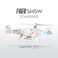 Wholesale Video Camera Connections - 2.4G 4CH 6-Axis Wifi FPV Drone HD Camera Headless Mode 3D-flip RTF SH5W SH5 RC Quadcopter
