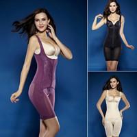 Wholesale Hip Cincher - Wholesale- Hot Full Body Waist Cincher Hip Abdomen Tummy Control Corset Shapewear Suit Hot Shapers New