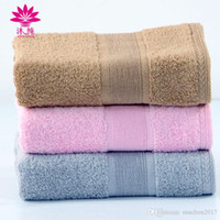 Wholesale Luxurious Jacquard - muchun Brand Pure Color Jacquard Satin MC-7075 Square 100% Nature Cotton Towel Fresh Rectangle Washrag Luxurious Material Shower Bath Towels