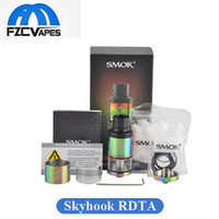 Wholesale E Cig 5ml Tank - Authentic SMOK Skyhook RDTA Tank 24.5mm Diameter 5ml Rebuidable Dripping Tank Atomizer 510 Thread Vape E Cig