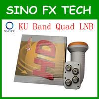 quads preise großhandel-Fabrik preis HD Digital KU Band Universal Quad LNB LNBF Quads Ausgang LNB LNBF 0,1 db Rauschzahl